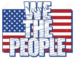 Design Of American Flag We The People Type Design Filled With The Constitution Of The