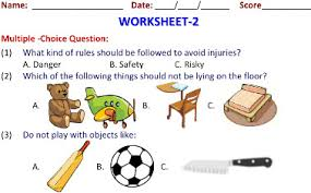 safety rules and keeping safe ncert science worksheets for third