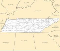 Tennessee Map With Counties by Tennessee Map Blank Political Tennessee Map With Cities