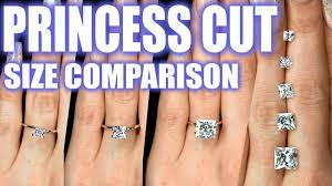 big fingers rings images Princess cut diamond size comparison on hand finger 1 carat square jpg