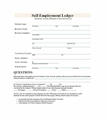 self employment ledger 40 free templates u0026 examples