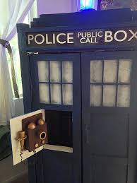 Batman Bookcase This Tardis Bookshelf Diy Is Actually Bigger On The Inside Our