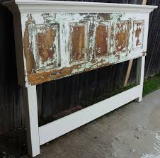 Homemade Headboard Ideas by Old Door Headboard Made For A King Size Bed Door Headboards