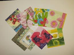 paper napkin decoupage napkins set collage decoupage napkin