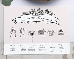 wedding itinerary template for guests bridesmaid itinerary etsy