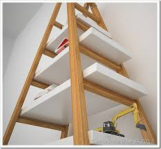 31 Md 00510 Ladder Shelves by 31 Md 00510 Ladder Shelves Woodworking Plan Ladder Shelf