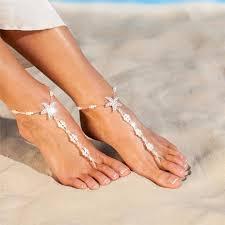 starfish barefoot sandals 2 pcs bridal barefoot sandals salelab