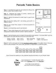 periodic table basics answer key periodic table basics answer key the science spot quintessence