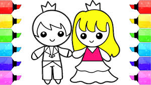 boy and coloring pages how to draw and color prince and