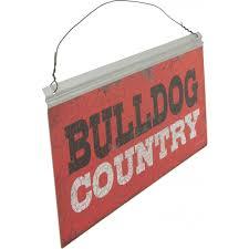 12x5 collegiate tin sign georgia bulldog country 393476