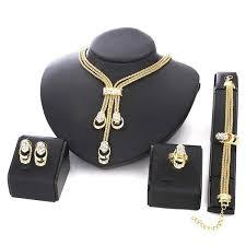 earrings necklace bracelet images 18k gold plated beads collar necklace earrings bracelet fine ri jpg