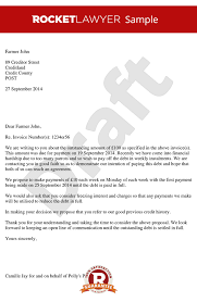 Loan Outstanding Letter proposing for payment in instalments payment plan template letter