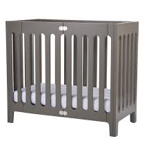 Mini Folding Crib Bloom Alma Mini Folding Crib Frame Grey