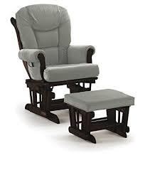Espresso Rocking Chair Nursery Shermag Glider Rocker Combo Espresso With Grey Best Nursery