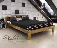 walnut bed frame ebay