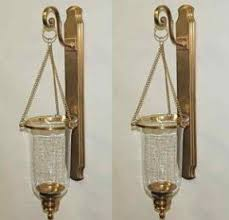 Vintage Brass Wall Sconces Hurricane Candle Sconces Wall Foter