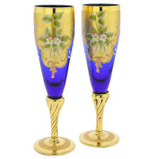 venetian style champagne flutes murano glass champagne flutes