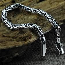 mens bracelet fashion images V ya genuine 100 real pure 925 sterling silver men bracelet jpg