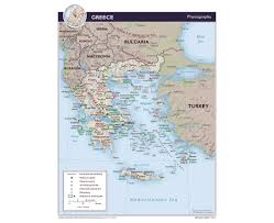 Physiographic Map Of The United States by Maps Of Greece Detailed Map Of Greece In English Tourist Map