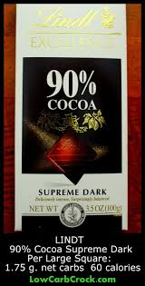 low carb food find lindt 90 cocoa supreme dark chocolate you