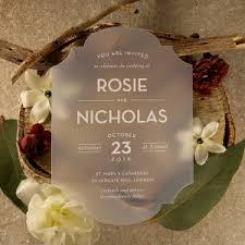 acrylic wedding invitations acrylic wedding invitations bweddings plastic range