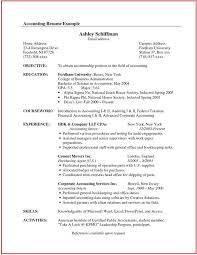 Accounting Resumes Examples by Example Accounting Resume Template Billybullock Us