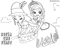 sofia the first colorings coloring pages to download and print