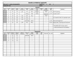 Free Construction Estimate Template Excel And Window Takeoff Sheet
