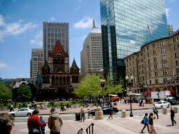 Copley Square Boston Map by Boston Love Letter Isak