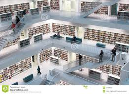stuttgart contemporary public library editorial stock photo
