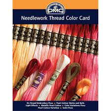 Satin Hair Color Chart Amazon Com Dmc Colorcrd Needlework Threads 12 Page Printed Color Card