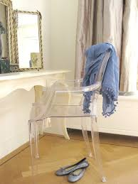 Lucite Vanity Table Lucite Chair In Bedroom Eclectic With Shallow Vanity Next To