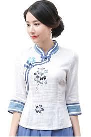 s blouses on sale shanghai sale half sleeve cheongsam top traditional