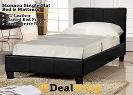 monaco pu leather single bed u0026 mattress 265 u2022 trade me