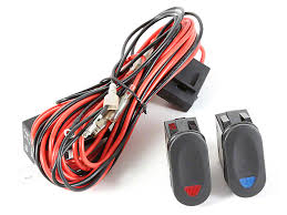 rugged ridge wrangler wiring harness for 2 hid offroad fog lights
