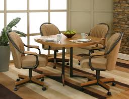 kitchen table and chairs with casters swivel dining room chairs casters nowadays it s really a favorite