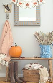 Rustic Fall Decor Fall Home Tour Part 1 Entryway U0026 Living Room The Golden Sycamore