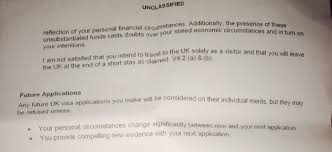Uk Visa Letter Of Invitation Business Application For Uk Standard Visa Refused What Next