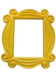 friends yellow peephole picture frame door tv monica hanging