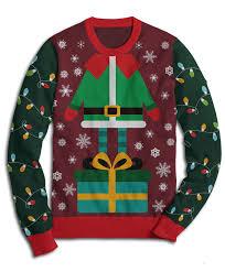 elf christmas sweater christmas tree