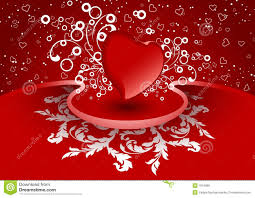 creative valentine greeting card with heart in red color vector