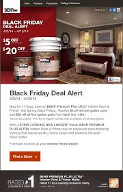 home depot april 1 spring black friday deal behr black friday deal alert get an immediate discount upon