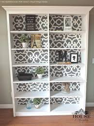 Kitchen Bookcases Cabinets Paint Bookcases Or Cabinets With Moroccan Stencils From Royal