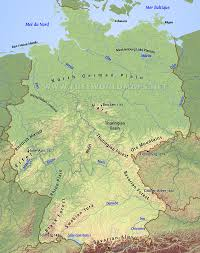 Map Of European Rivers by Germany Physical Map