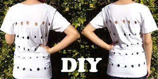 fashion diy how to make cutout top blouse with t shirt damav425