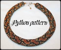 necklace pattern images Python snake skin bead crochet rope necklace pattern etsy jpg