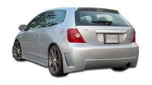 si es auto b free shipping on duraflex 02 05 honda civic si hb b 2 rear bumper