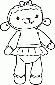 doc mcstuffins lambie sheep coloring page wecoloringpage