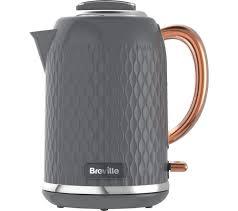 rose gold appliances buy breville curve vkt118 jug kettle grey u0026 rose gold free