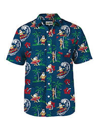 christmas shirts tipsy elves men s surf s up santa christmas hawaiian button